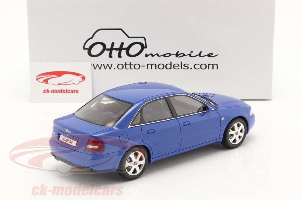 Audi S4 (B5) 2.7L Biturbo Byggeår 1998 nogaro blå 1:18 OttOmobile