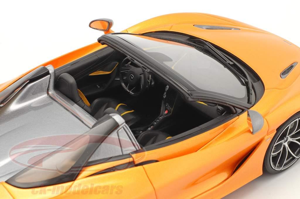 McLaren 720S Spider Année de construction 2018 Orange métallique 1:18 GT-Spirit