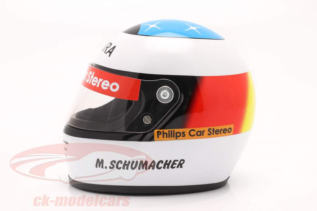 Michael Schumacher Primeiro Fórmula 1 GP Spa 1991 capacete 1:2 Schuberth