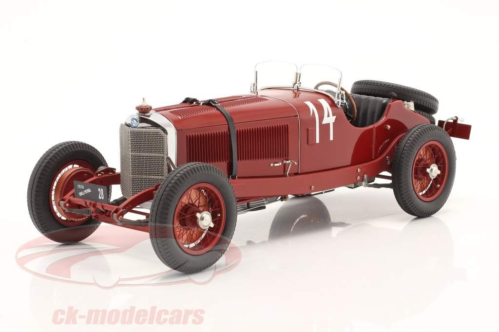 Mercedes-Benz SSK #14 vinder Argentinsk Efterår Race 1931 C. Zatuszek 1:18 CMC