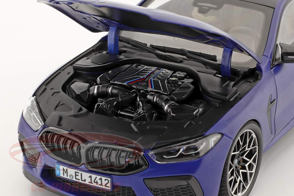 BMW 8 Series M8 Coupe (F92) year 2020 mat marina bay blue 1:18 Minichamps