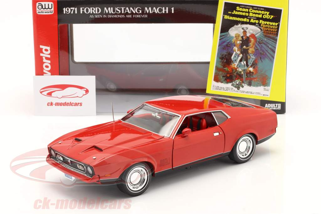 Ford Mustang Mach 1 1971 James Bond - Diamonds are Forever 1:18 AutoWorld