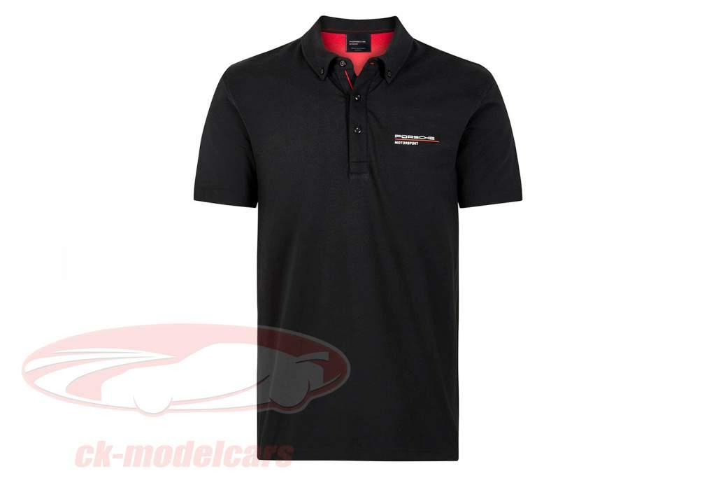 Herren Polo-Shirt Porsche Motorsport 2021 Logo schwarz