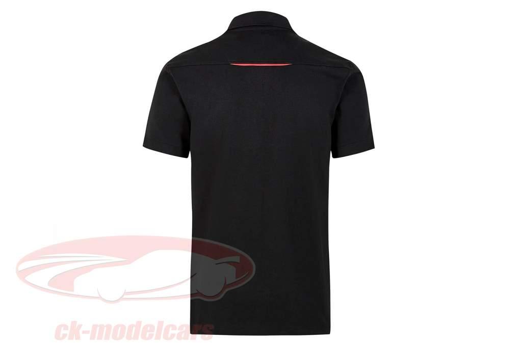 Pour des hommes chemise polo Porsche Motorsport 2021 logo noir