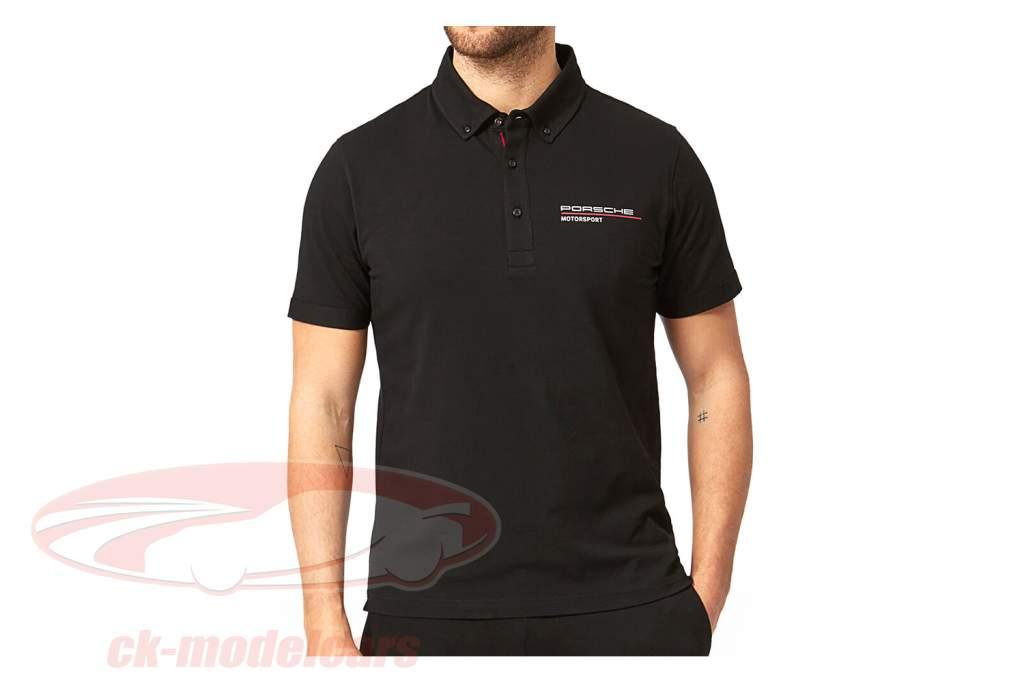 de los hombres camisa polo Porsche Motorsport 2021 logo negro