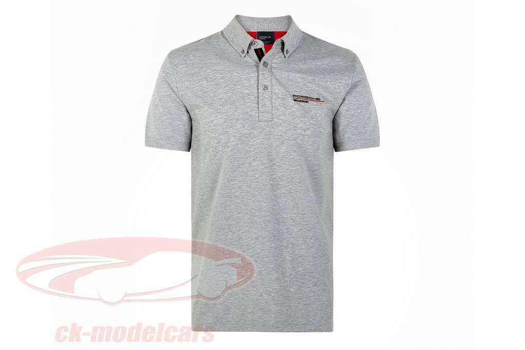 Herren Polo-Shirt Porsche Motorsport 2021 Logo grau