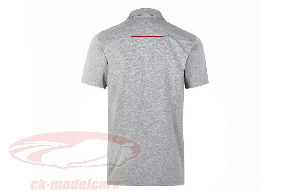 Pour des hommes chemise polo Porsche Motorsport 2021 logo gris