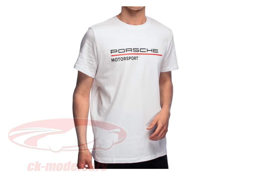 de los hombres Camiseta de manga corta Porsche Motorsport 2021 logo blanco