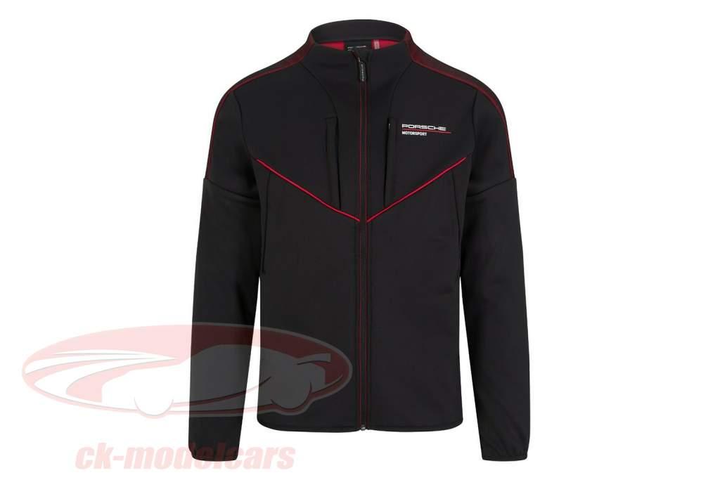 de los hombres Chaqueta softshell Porsche Motorsport 2021 logo negro / rojo
