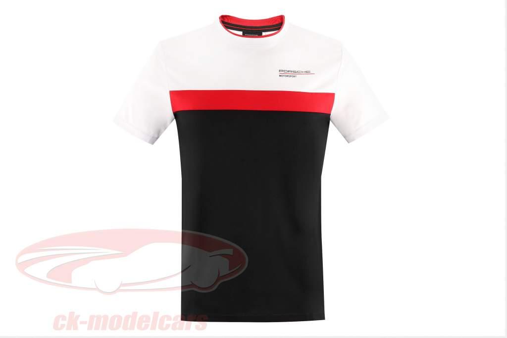 de los hombres Camiseta de manga corta Porsche Motorsport 2021 logo blanco / rojo / negro