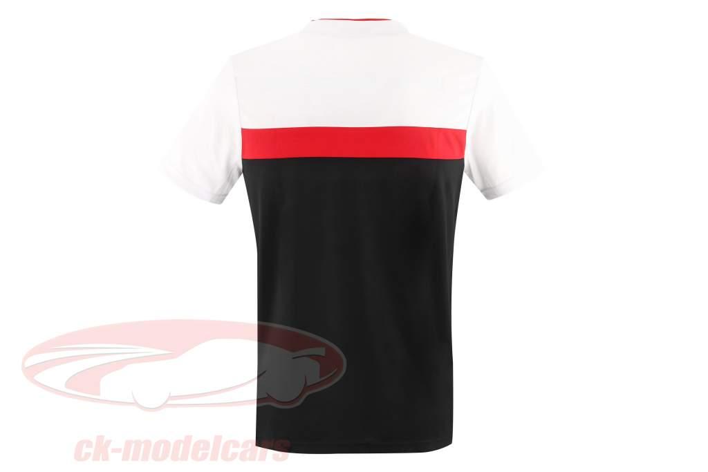 Herren T-Shirt Porsche Motorsport 2021 Logo weiß / rot / schwarz