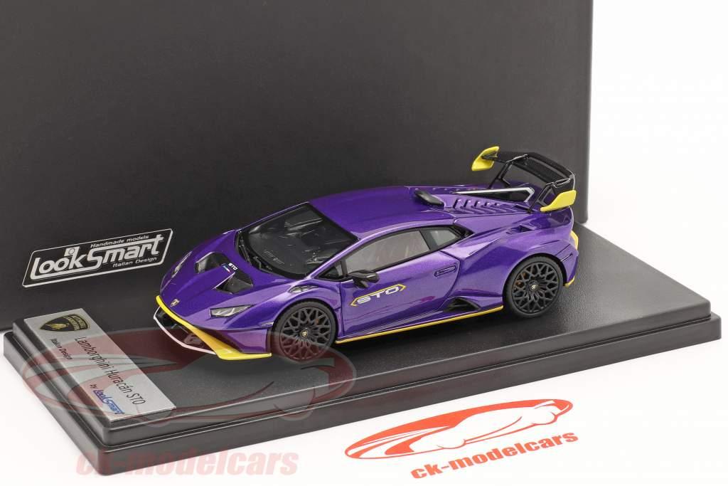 Lamborghini Huracan STO Année de construction 2021 pasifae violet 1:43 LookSmart