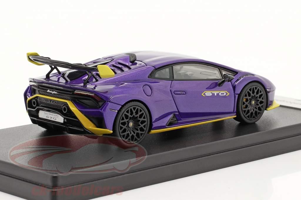 Lamborghini Huracan STO Byggeår 2021 pasifae violet 1:43 LookSmart