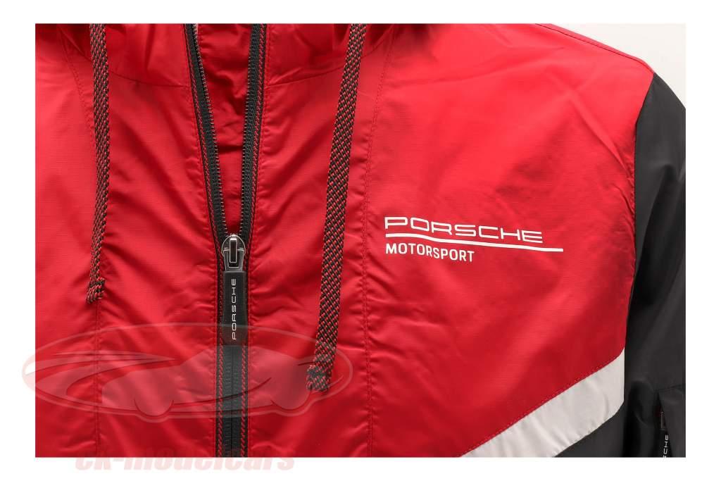 Vindjakke Porsche Motorsport 2021 logo sort / Rød / hvid