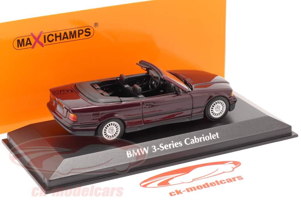 BMW 3 Series (E36) Cabriolet Baujahr 1993 violett metallic 1:43 Minichamps