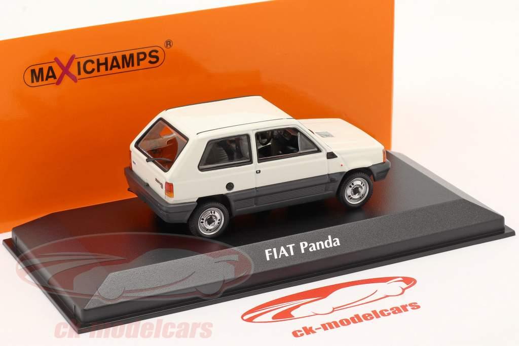 Fiat Panda Byggeår 1980 fløde hvid / Grå 1:43 Minichamps