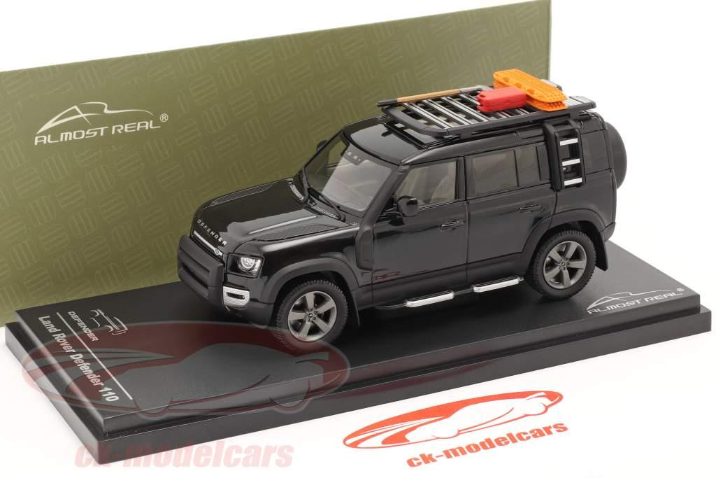 Land Rover Defender 110 Byggeår 2020 santorini sort 1:43 Almost Real