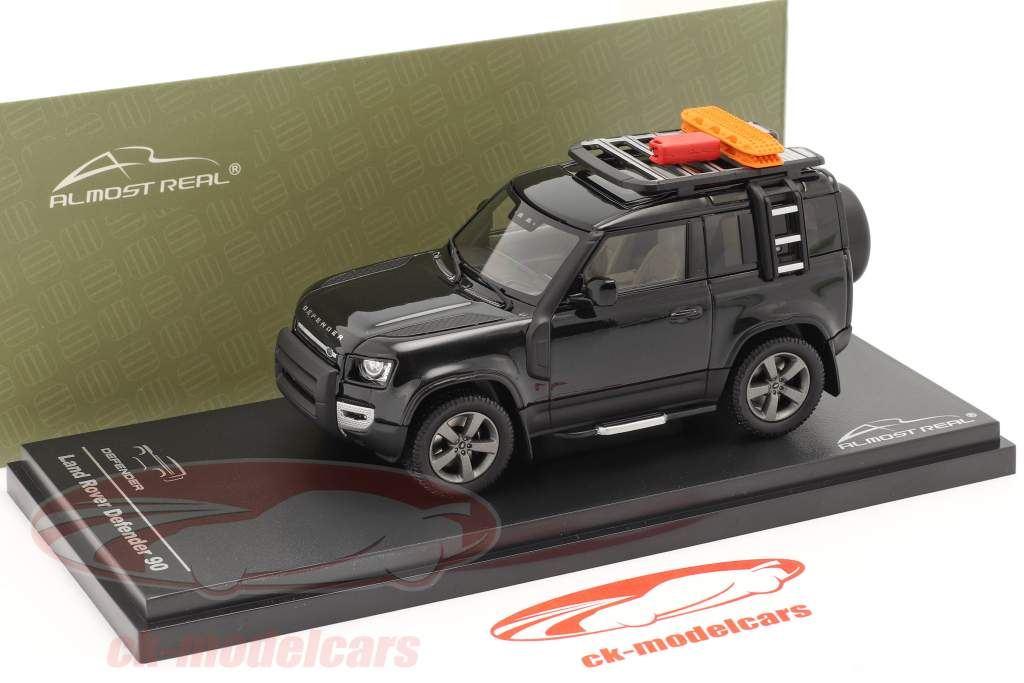 Land Rover Defender 90 Byggeår 2020 santorini sort 1:43 Almost Real