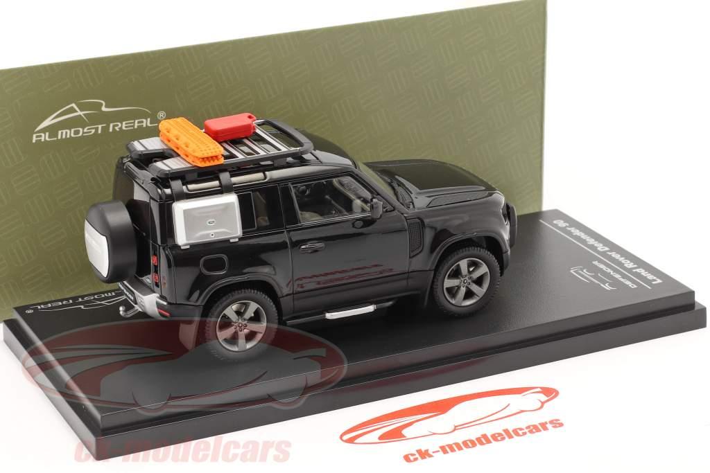 Land Rover Defender 90 Año de construcción 2020 santorini negro 1:43 Almost Real