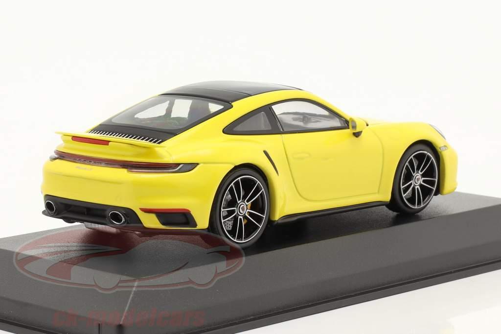 Porsche 911 (992) Turbo S year 2020 racing yellow 1:43 Minichamps