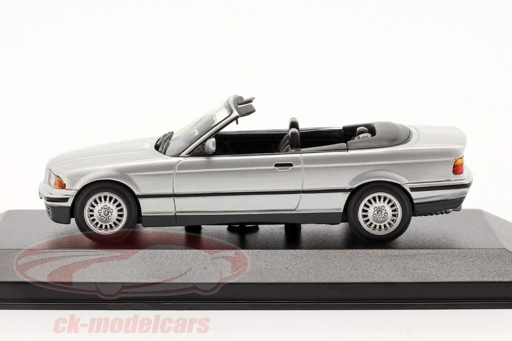BMW 3 Serie (E36) Convertible Año de construcción 1993 plata 1:43 Minichamps