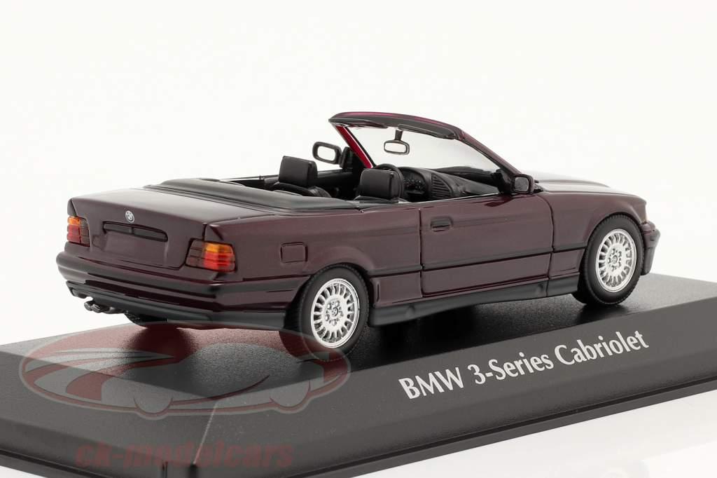 BMW 3 Séries (E36) Convertible Année de construction 1993 violet métallique 1:43 Minichamps