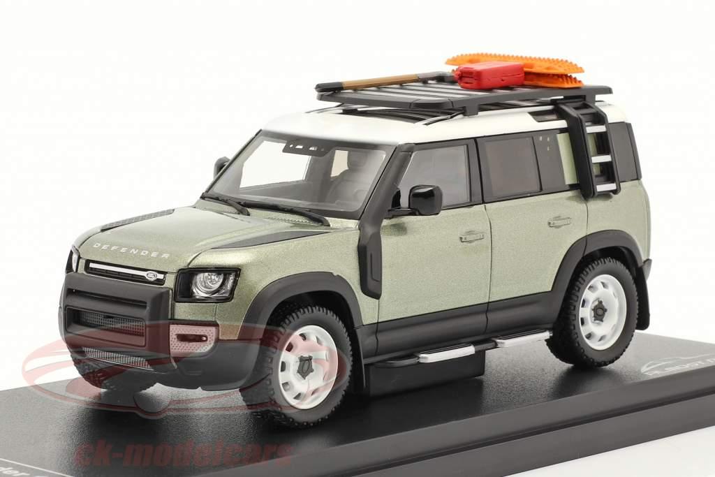 Land Rover Defender 110 Año de construcción 2020 pangea verde 1:43 Almost Real