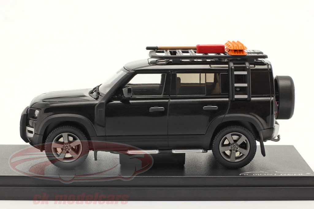 Land Rover Defender 110 Año de construcción 2020 santorini negro 1:43 Almost Real