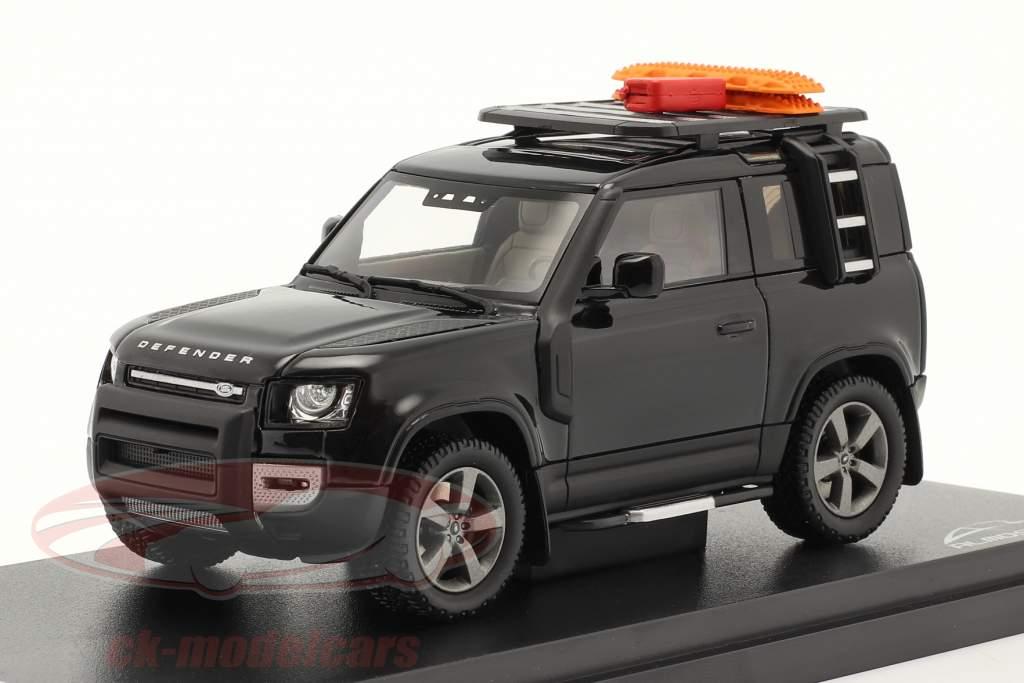 Land Rover Defender 90 Année de construction 2020 santorini le noir 1:43 Almost Real
