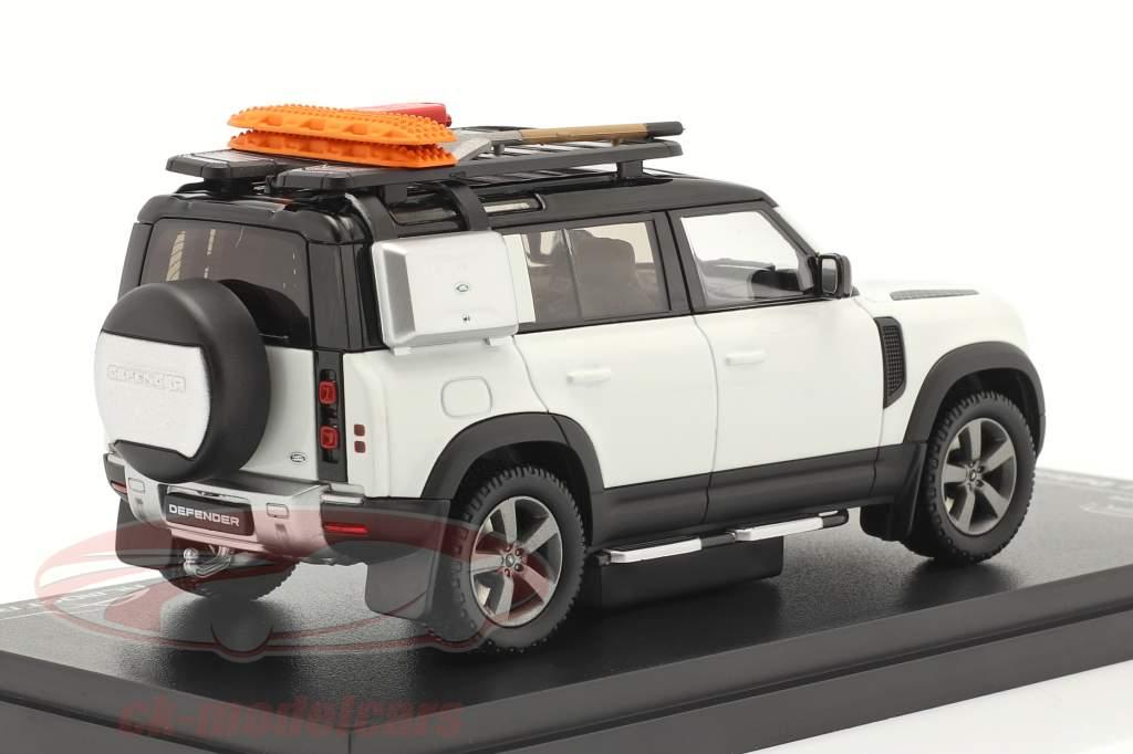 Land Rover Defender 110 Byggeår 2020 fuji hvid 1:43 Almost Real