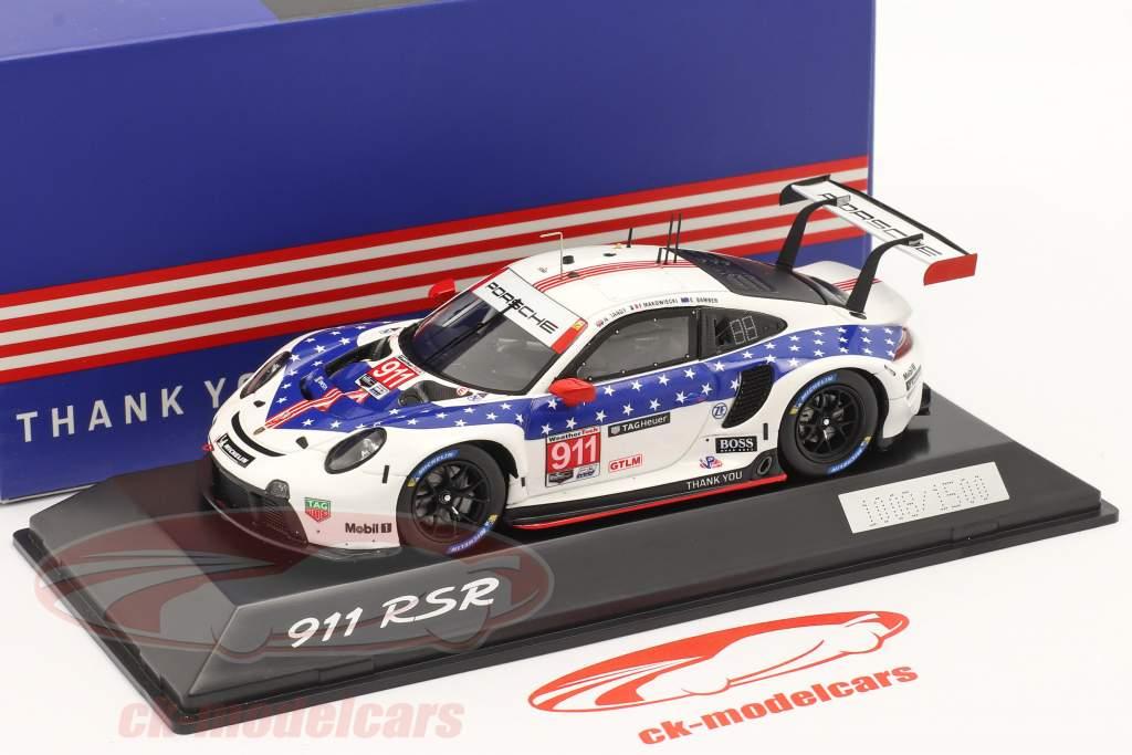 Porsche 911 RSR #911 vinder GTLM klasse 12h Sebring IMSA 2020 1:43 Spark
