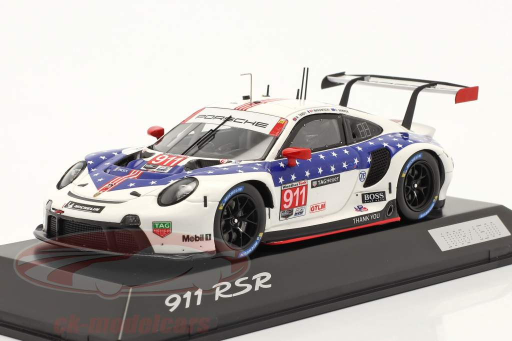 Porsche 911 RSR #911 ganador Clase GTLM 12h Sebring IMSA 2020 1:43 Spark