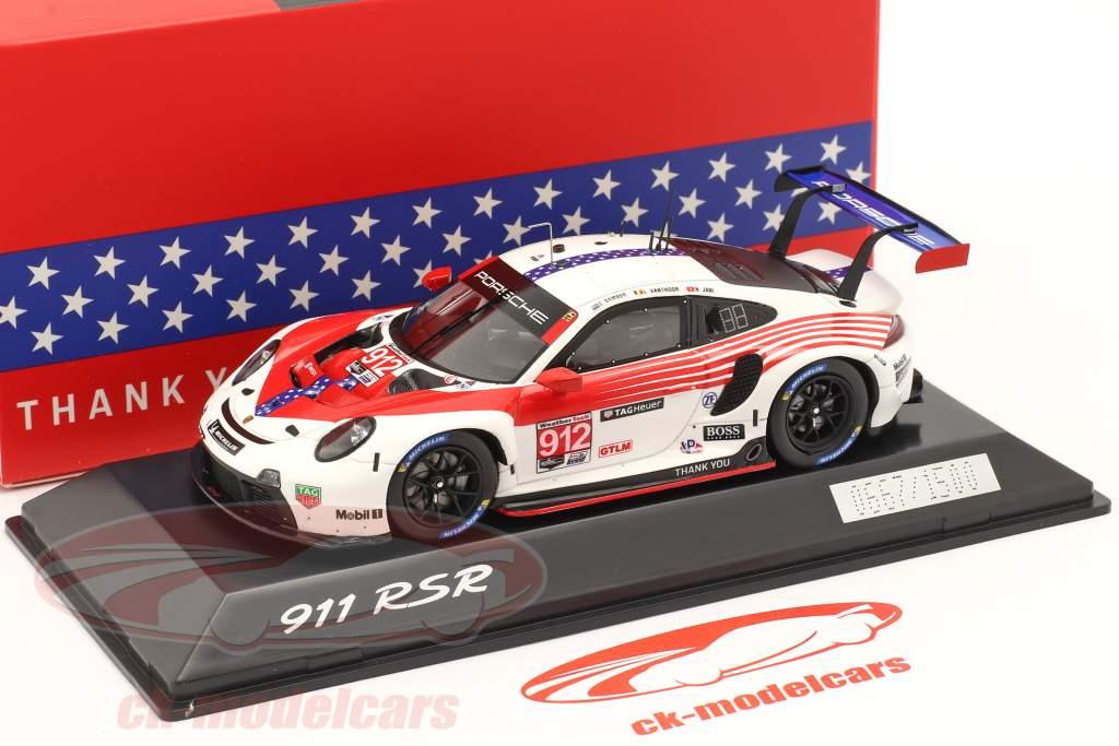 Porsche 911 RSR #912 2nd GTLM-Klasse 12h Sebring IMSA 2020 1:43 Spark