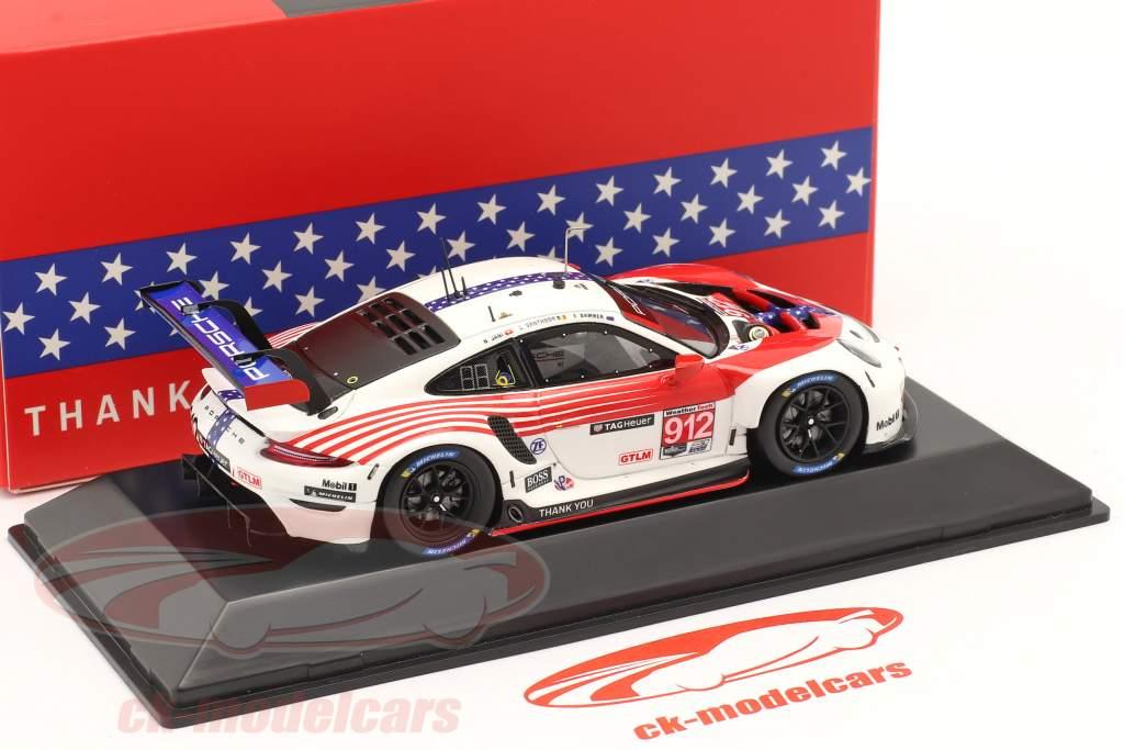 Porsche 911 RSR #912 2e Classe GTLM 12h Sebring IMSA 2020 1:43 Spark