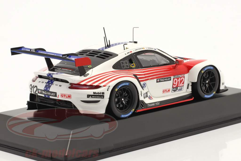 Porsche 911 RSR #912 2do Clase GTLM 12h Sebring IMSA 2020 1:43 Spark