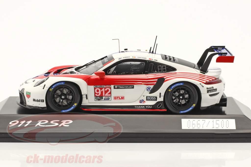 Porsche 911 RSR #912 2. GTLM klasse 12h Sebring IMSA 2020 1:43 Spark