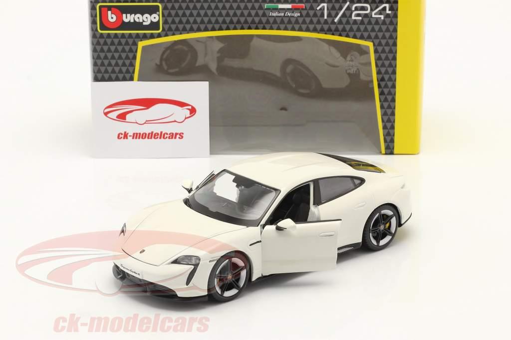 Porsche Taycan Turbo S weiß 1:24 Burago