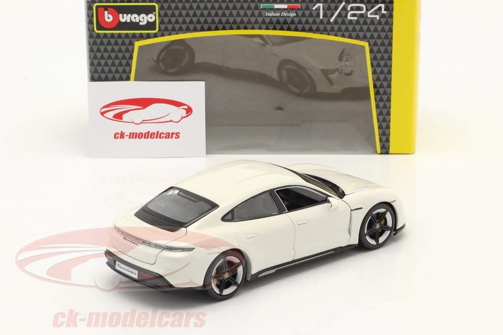 Porsche Taycan Turbo S hvid 1:24 Burago
