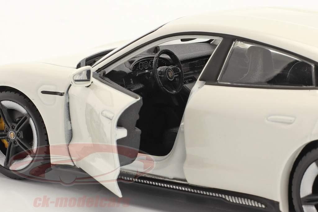 Porsche Taycan Turbo S blanche 1:24 Burago
