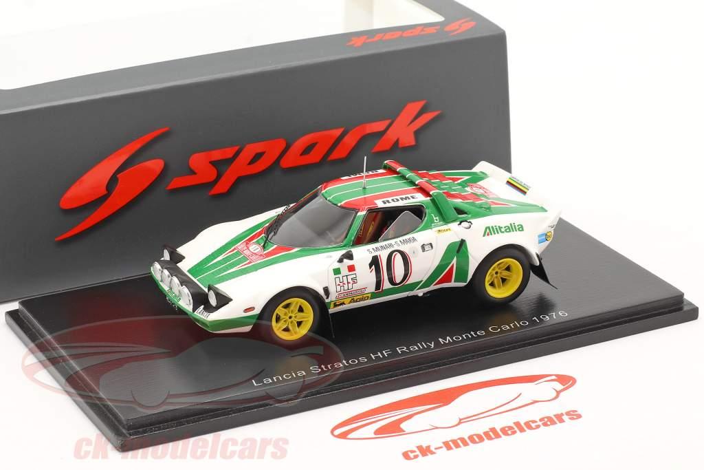 Lancia Stratos HF #10 gagnant Rallye Monte Carlo 1976 Munari, Maiga 1:43 Spark