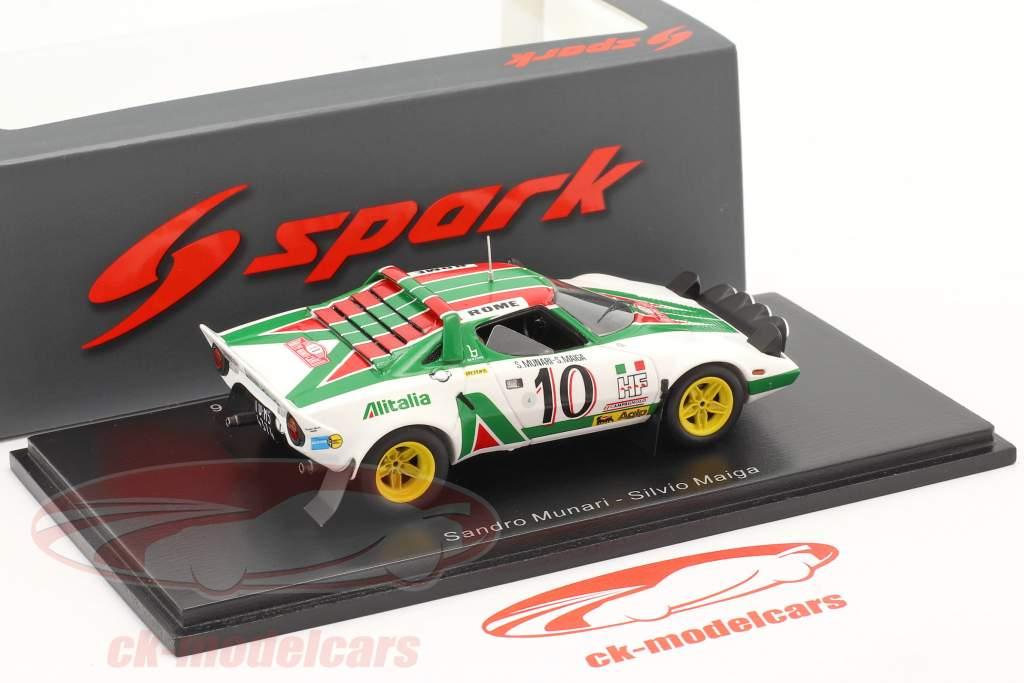 Lancia Stratos HF #10 vinder Rallye Monte Carlo 1976 Munari, Maiga 1:43 Spark