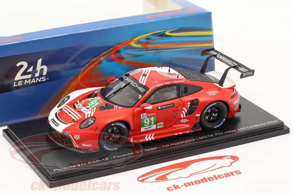 Porsche 911 RSR #91 24h LeMans 2020 Bruni, Lietz, Makowiecki 1:43 Spark