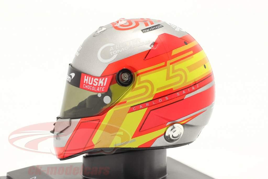 Carlos Sainz jr. #55 McLaren F1 Team Formel 1 2020 Helm 1:5 Spark