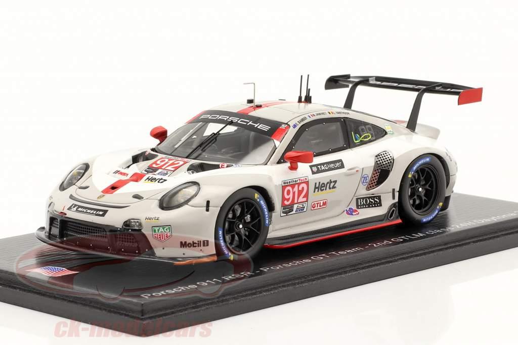 Porsche 911 RSR #912 2nd GTLM-Klasse 24h Daytona 2020 Porsche GT Team 1:43 Spark
