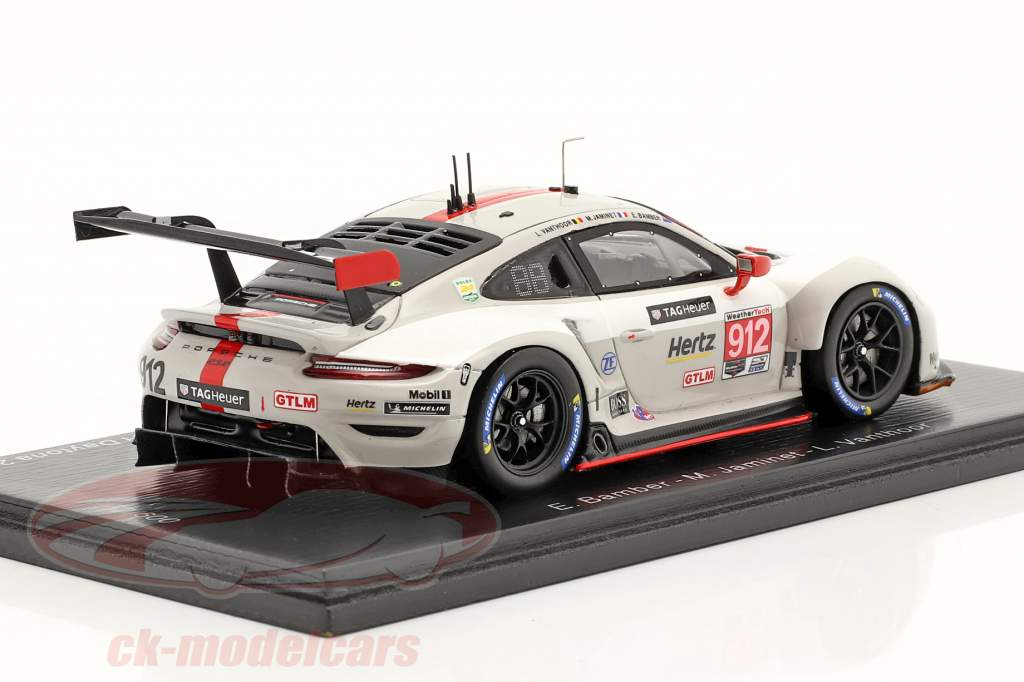Porsche 911 RSR #912 2do Clase GTLM 24h Daytona 2020 Porsche GT Team 1:43 Spark