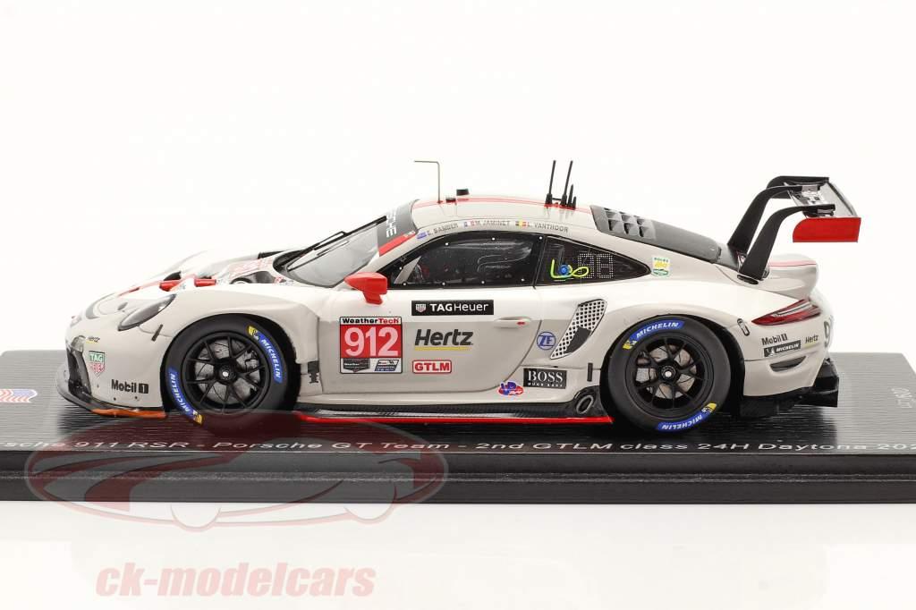 Porsche 911 RSR #912 2nd GTLM class 24h Daytona 2020 Porsche GT Team 1:43 Spark