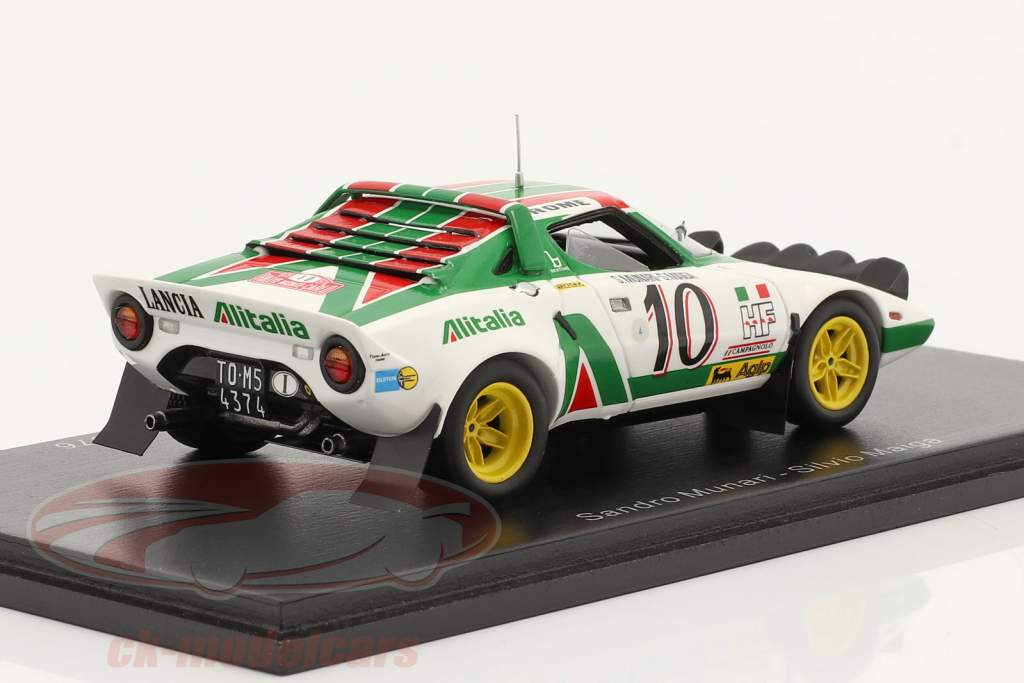 Lancia Stratos HF #10 ganador Rallye Monte Carlo 1976 Munari, Maiga 1:43 Spark