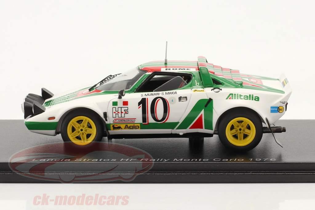Lancia Stratos HF #10 Sieger Rallye Monte Carlo 1976 Munari, Maiga 1:43 Spark
