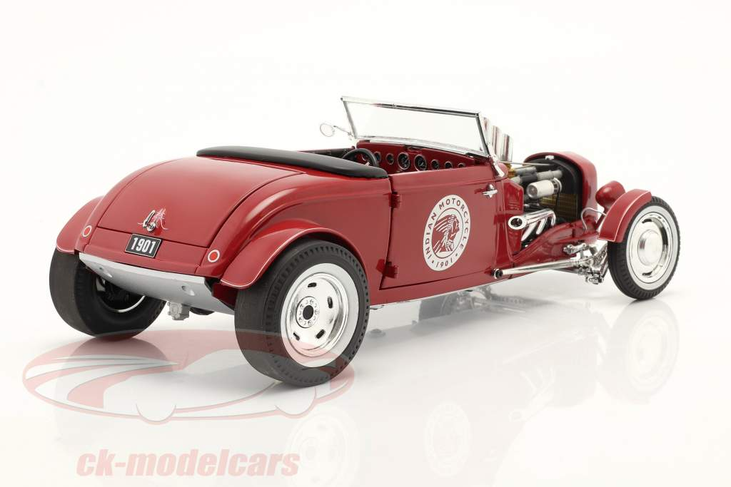 Hot Rod Roadster Indian Motorcycle 1934 rouge 1:18 GMP