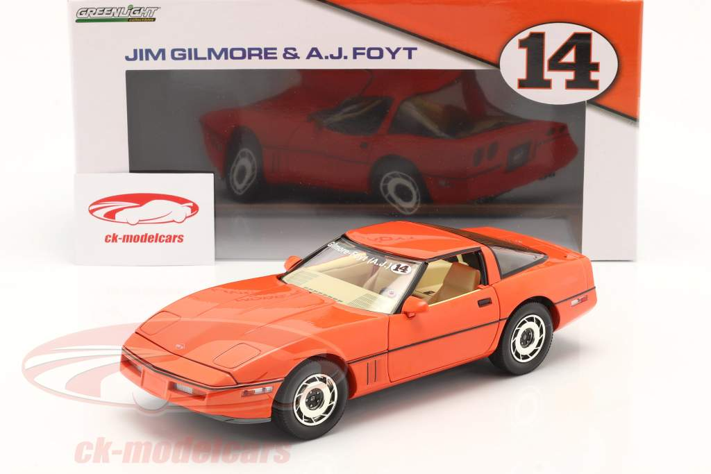 Chevrolet Corvette C4 year 1984 hugger orange 1:18 Greenlight